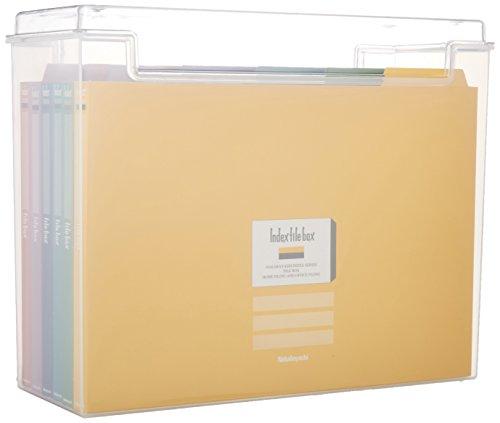 / クリアフボ I-F2C with Nakabayashi (Nakabayashi) index file box / cover