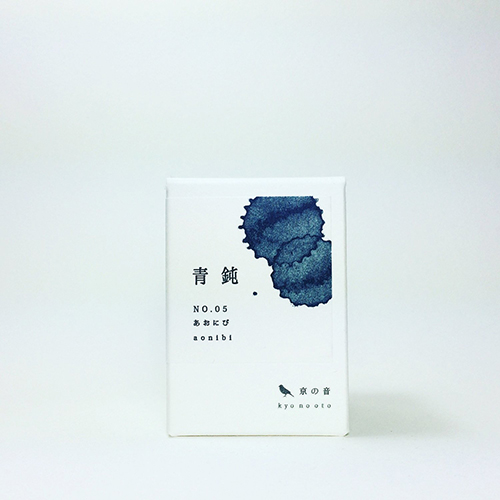 kyonooto original bottle ink for fountain pen 'aonibi' kyonooto kyoto japan