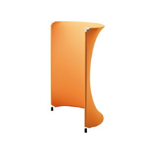 PLUS(プラス)ローパーティション/衝立/簡易パネル/AIR FRET・エアフレット 布 R型 XS-K1215R A5