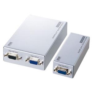 サンワサプライ ディスプレイエクステンダー(セットモデル) VGA-EXSET2