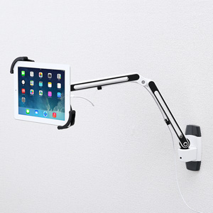 サンワサプライ 7~11インチ対応iPad・タブレット用アーム(壁面用) CR-LATAB11