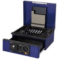 カール事務器 キャッシュボックス CB-D8770-B ブルー 4971760261481