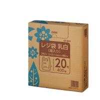 <title>クラフトマン レジ袋 乳白 箱入 20号 400枚 CF-B20 40セット SEAL限定商品</title>