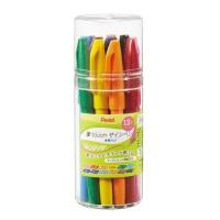 ぺんてる 筆touchサインペン12色SES15C-12 4902506297839