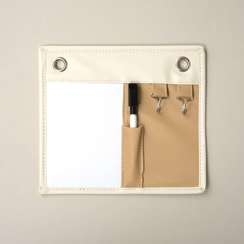 東洋ケース キーフック&ホワイトボード マグネットホワイトボード コンパクト よこ23×たて20cm ベージュ ENT-MGW-BE (20セット)
