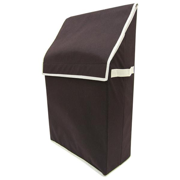 東洋ケース プラスワン 紙袋ストックケース 収納ケース ストレージボックス ブラウン PLO-SSB-BR (12セット)