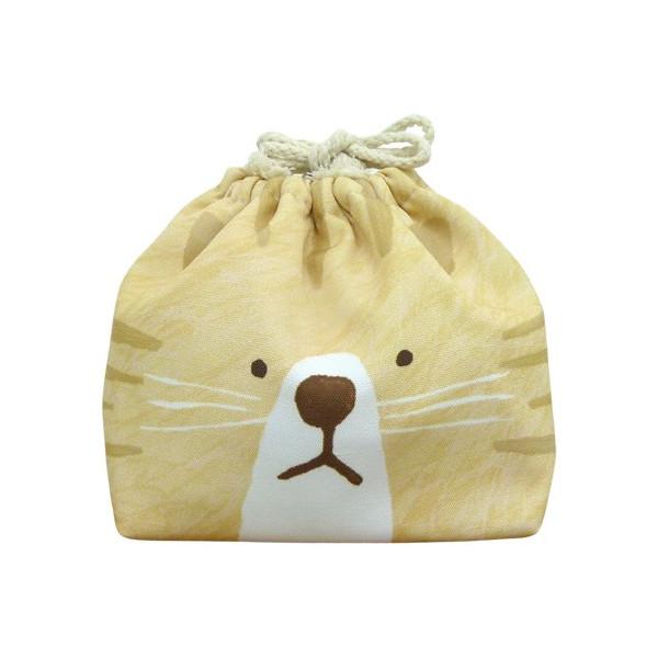 東洋ケース 巾着袋 LIKE KITCHEN 保冷機能有り アルミ蒸着シート使用 おかおきんちゃく トラネコ KT-KAO2-TORA (60セット)