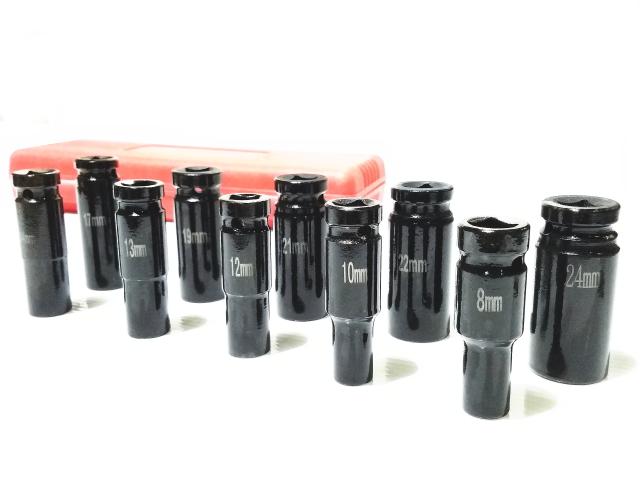 1 2ソケット10本セット 2 新作アイテム毎日更新 12.7mm ディープ ソケット 10本セット 未使用 エアーインパクト ラチェット 24mm 21mm 8mm 10mm 13mm 12mm 22mm 19mm 17mm 14mm