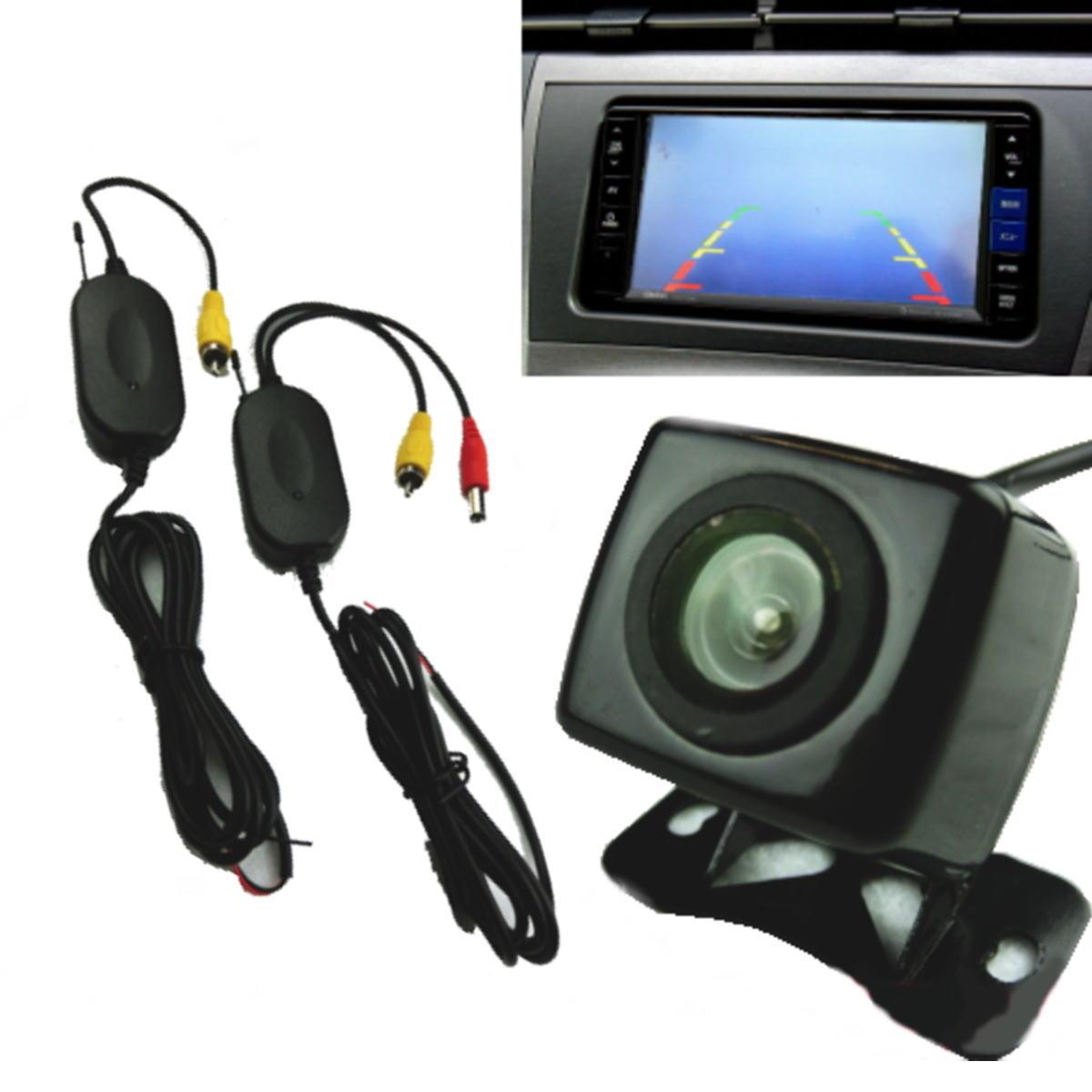 送料無料 カーパーツ カー用品 社外 カスタム ドレスアップ バックモニター ワイヤレス 1台分 セット 2020モデル おしゃれ 即納 フロントカメラ バックカメラ 広角 防水 無線 角型 汎用 小型 ガイドライン有