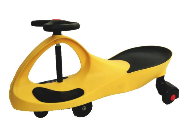 スイングカー 乗用玩具 スィングカー エコカー 乗物 三輪車 のりもの ゴムタイヤ 2種類ウィール付き 優先配送 即納 おもちゃ 黄 プラスティックタイヤ イエロー オーバーのアイテム取扱☆ 乗り物