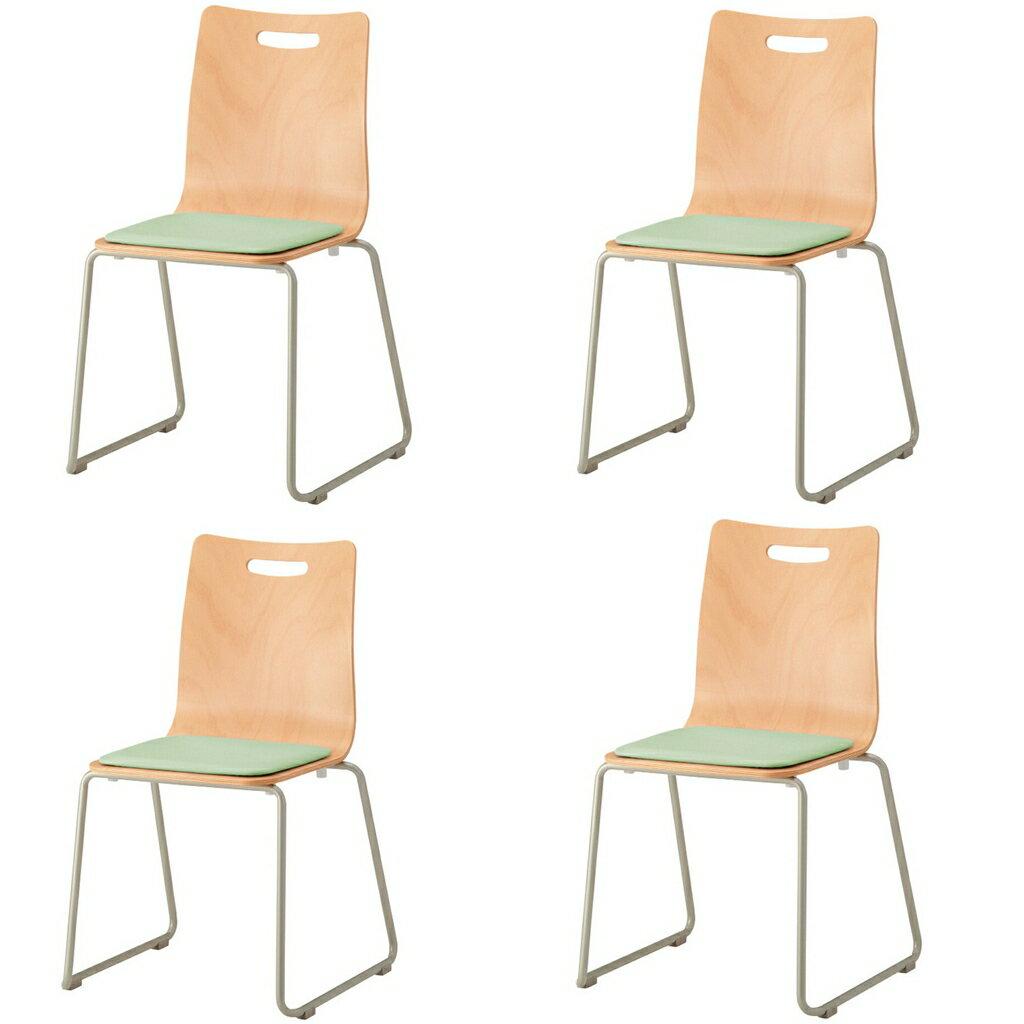 【4脚セット】(¥6,048脚) ミーティングチェア スタッキングチェア 会議椅子 スタックチェア 会議チェア 会議用椅子 会議室用椅子 積重 収納 会議 会議用 椅子 【4脚セット】 R-WLC-R02V【SS0602】