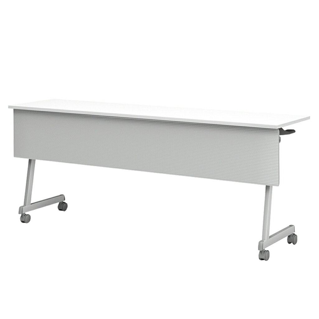 送料無料 会議用テーブル フォールディングテーブル 幕板付き キャスター付き 幅1500×奥行600×高さ720mm 150cm 150×60 折りたたみ会議テーブル スタックテーブル 机 スタッキングテーブル R-FT89-Z1560TM 定価の67%OFF 会議机
