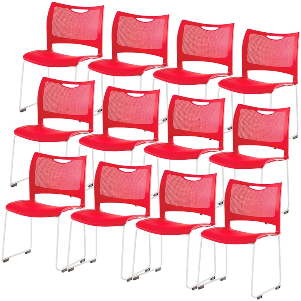 【12脚セット】ミーティングチェア スタッキングチェア 組立不要 収納 アイリスチトセ オフィス家具 会議椅子 スタックチェア 会議チェア 会議用椅子 会議室用椅子 積重 会議 会議用 椅子 【12脚セット】 R-MC-MKT01【SS0602】