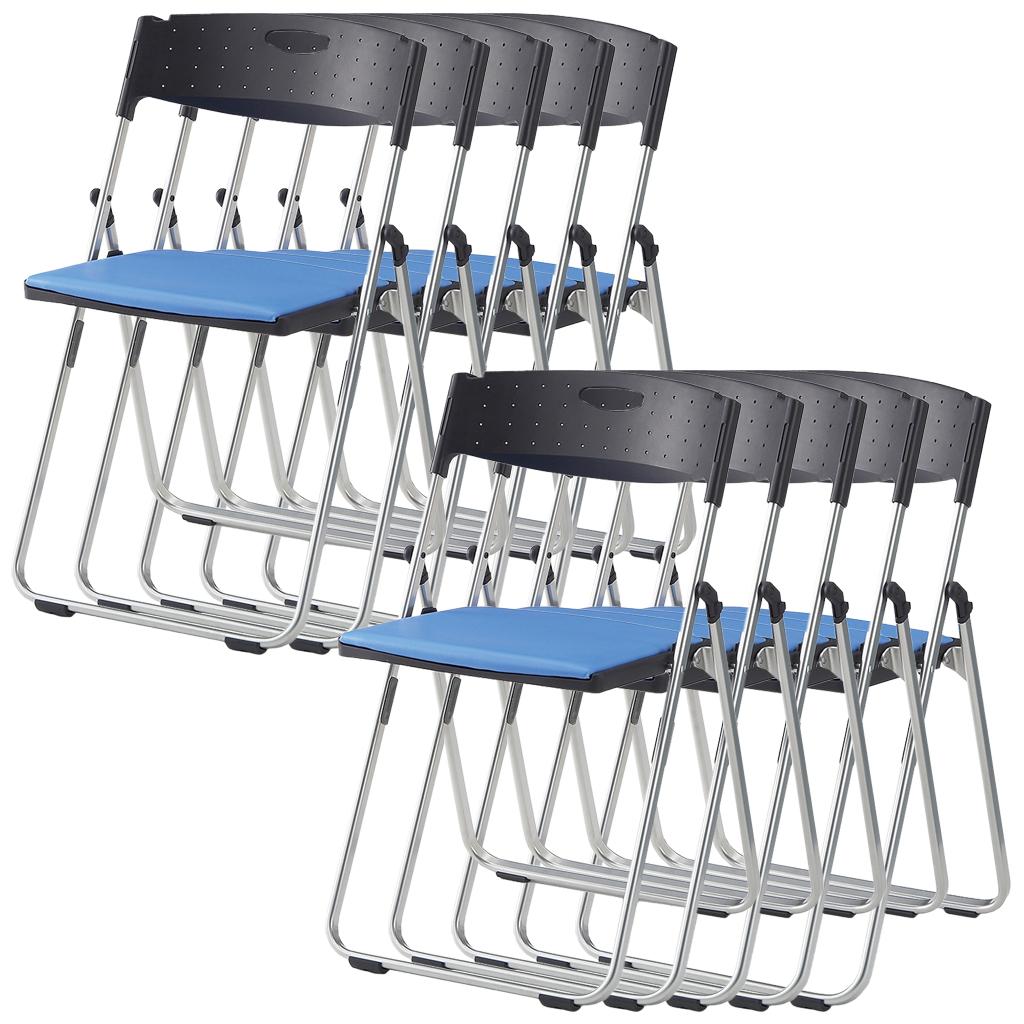 【法人様限定】【10脚セット】パイプ椅子 折りたたみ椅子 パイプイス 2.8kg アルミ コンパクト 軽量 安全設計 連結 省スペース収納 CAL-X02S-V【10脚セット】 R-CAL-X02S-V