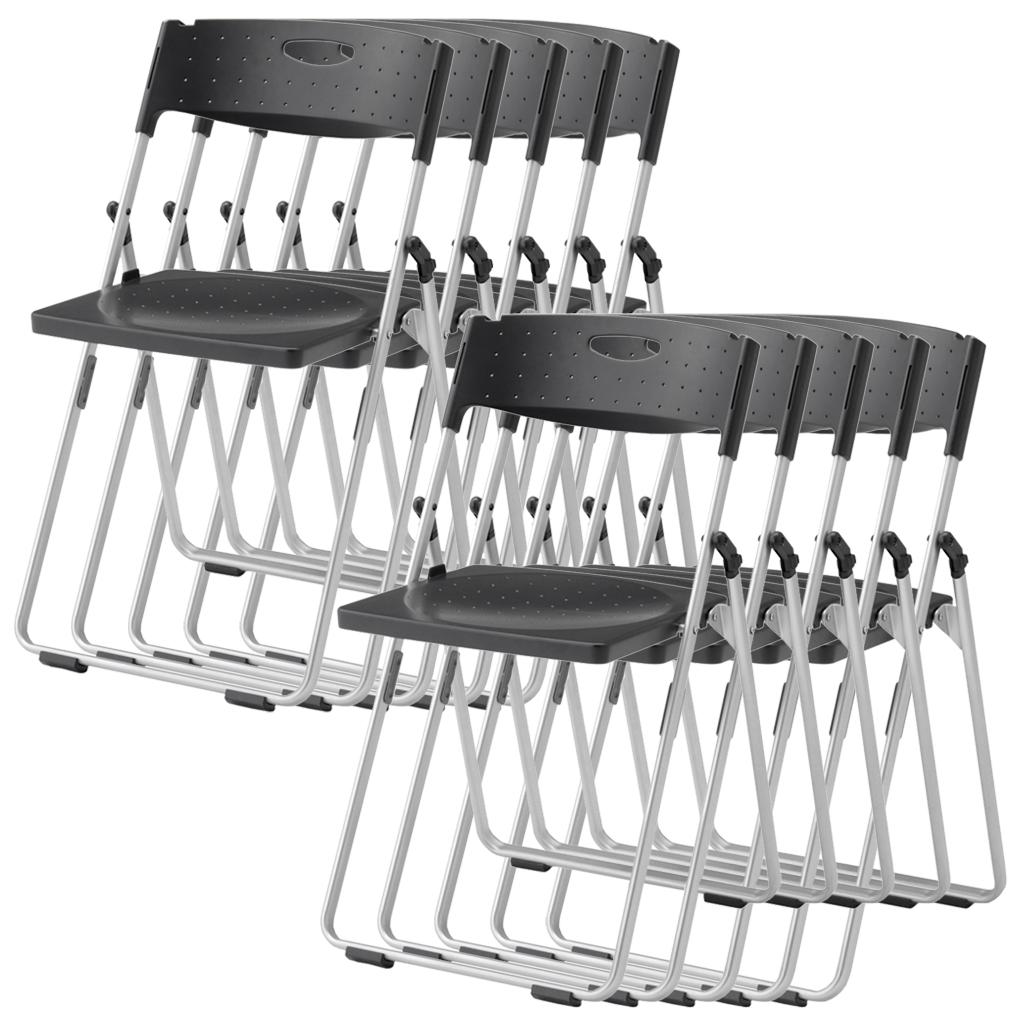 【法人様限定】【10脚セット】パイプ椅子 折りたたみ椅子 パイプイス 4.0kg スチール コンパクト 軽量 安全設計 連結 省スペース収納 R-CAL-XS01M