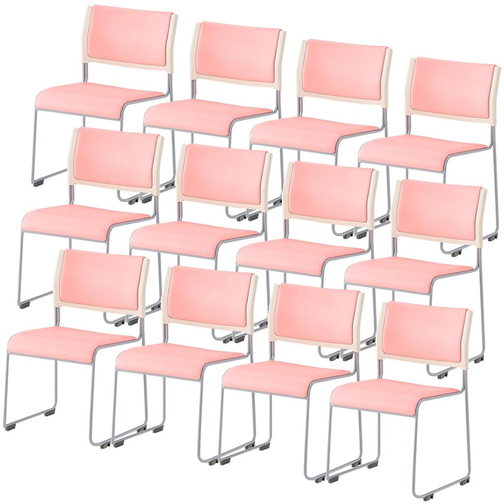 【12脚セット】ミーティングチェア スタッキングチェア 組立不要 収納 アイリスチトセ オフィス家具 会議椅子 スタックチェア 会議チェア 会議用椅子 会議室用椅子 積重 会議 会議用 椅子 【12脚セット】 R-LTS-110P-V【SS0602】