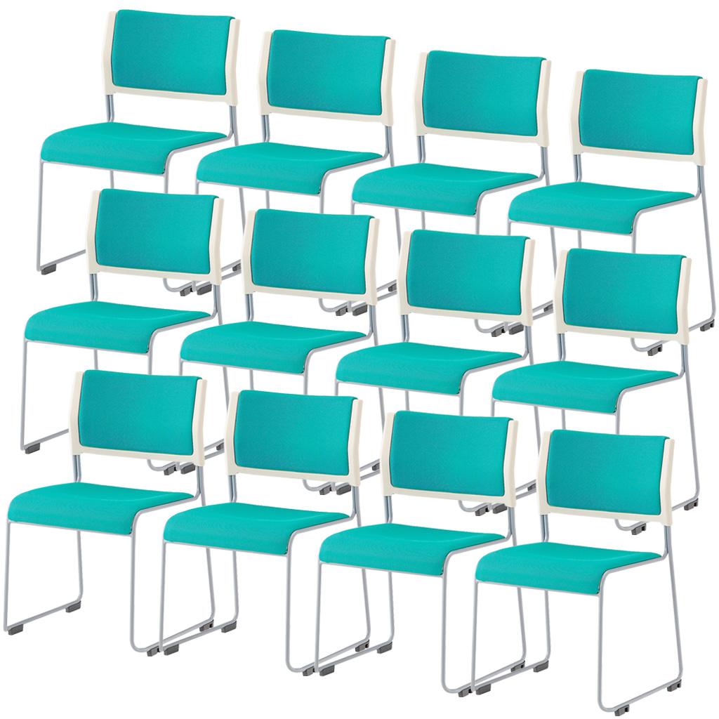 【法人様限定】【12脚セット】ミーティングチェア スタッキングチェア 組立不要 収納 アイリスチトセ オフィス家具 会議椅子 スタックチェア 会議チェア 会議用椅子 会議室用椅子 積重 会議 会議用 椅子 【12脚セット】 R-LTS-110P-F