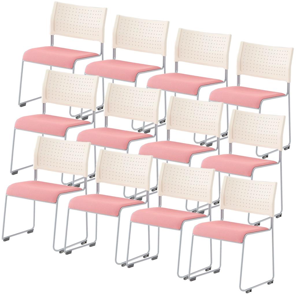 【法人様限定】【12脚セット】ミーティングチェア スタッキングチェア 組立不要 収納 アイリスチトセ オフィス家具 会議椅子 スタックチェア 会議チェア 会議用椅子 会議室用椅子 積重 会議 会議用 椅子 【12脚セット】 R-LTS-110-F