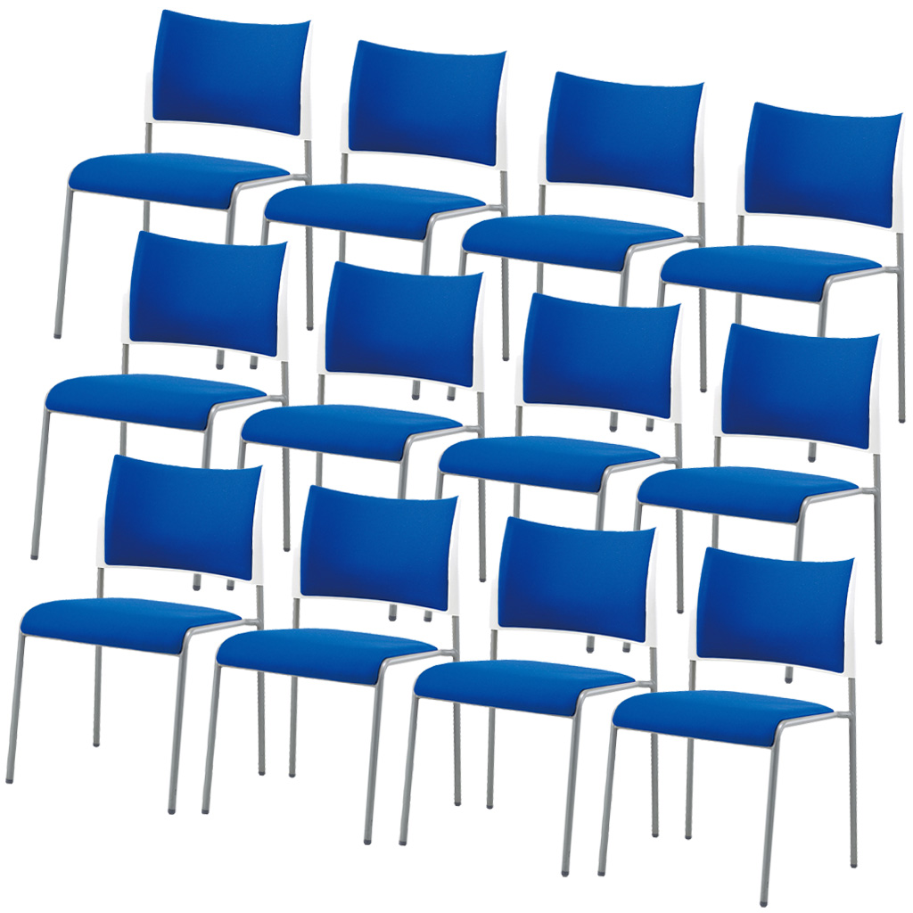 【12脚セット】ミーティングチェア スタッキングチェア 組立不要 収納 アイリスチトセ オフィス家具 会議椅子 スタックチェア 会議チェア 会議用椅子 会議室用椅子 積重 会議 会議用 椅子 【12脚セット】 R-LTS-4P-F【SS0602】