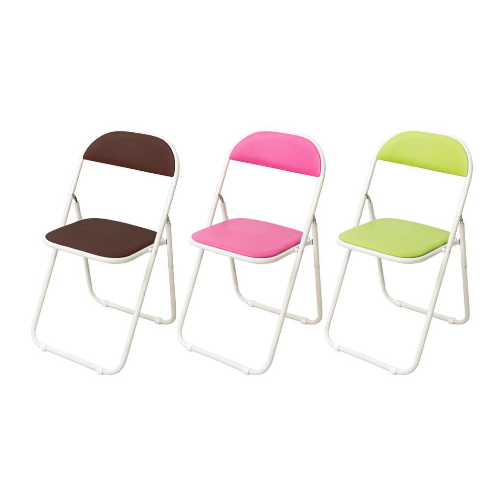 【6脚】パイプ椅子 折りたたみ椅子 快適 丈夫 安全 スチール脚 会議椅子 ホワイト 【6脚セット】 R-アスカR-B-V【SS0602】
