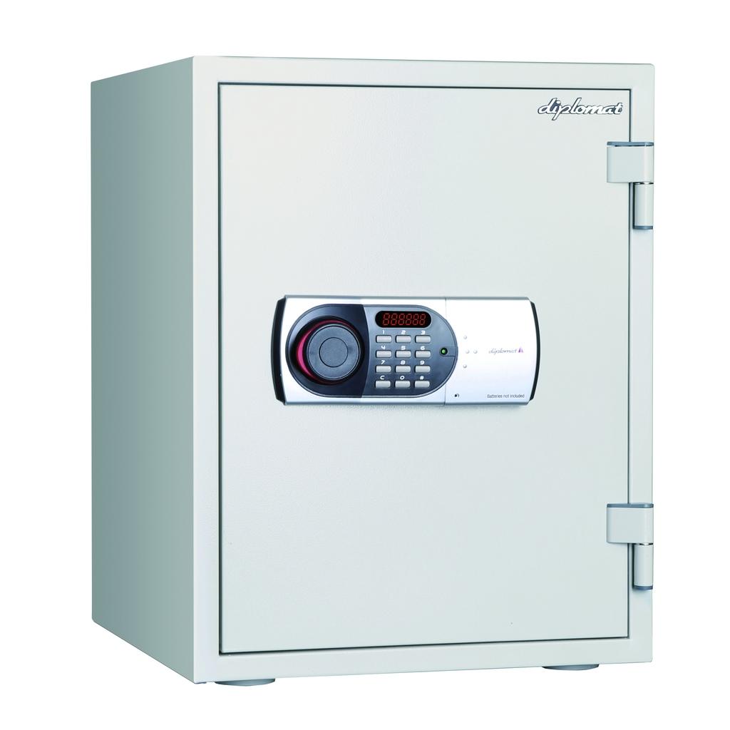 デジタルテンキー式 耐火耐水金庫 60分耐火 容量36L ホワイト 警報音付 R-530EN88WR【SS0602】