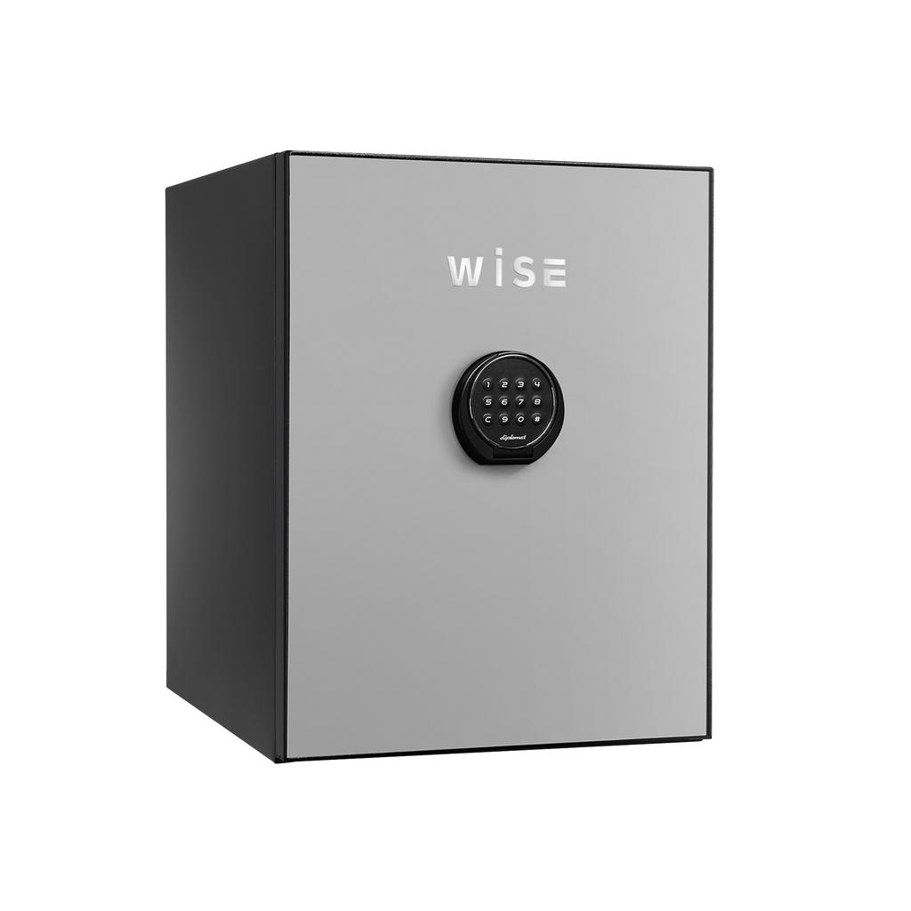 デジタルテンキー式 デザイン金庫 60分耐火 容量36L ライトグレイ 警報音付 R-WS500ALLG【SS0602】