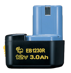 HiKOKI(旧日立工機)0032-1637メーカー純正品12Vニッケル水素電池(冷却対応) EB1230R 容量3.0Ah