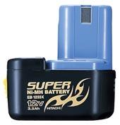 HiKOKI(旧日立工機)純正品:0032-607512Vスーパー水素電池(冷却対応) EB1233X 容量3.3Ah フラット電池