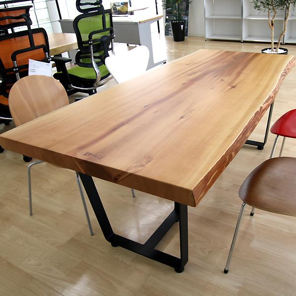 [店頭受取可]OFFICE PORTAL オリジナル 一枚板テーブル W1770 米杉 オフィス向け会議用テーブル 会議テーブル