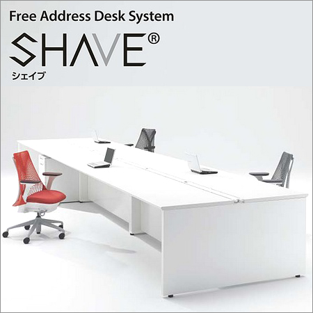 フリーアドレスデスク SHAVE シェイブ SHA-2414K 幅2400×奥行1400×高さ720mm パソコンデスク オフィスデスク 事務用デスク オフィス家具 収納 OA