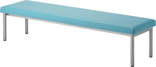 ベーシックなベンチソファー ロビーベンチ ライトブルー幅1800x奥行470(mm) PVCレザーHPF0402-002LB