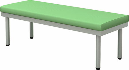 【送料無料】ロビーベンチ 幅1200 奥行450 平ベンチ(背なし) グリーン【お客様組立】 BCF-1245-GR