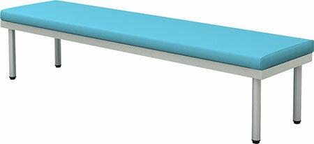 ロビーベンチ 幅1800 奥行450 平ベンチ(背なし) ブルー【お客様組立】 BCF-1845-BL