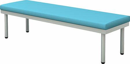 ロビーベンチ 幅1500 奥行450 平ベンチ(背なし) ブルー【お客様組立】 BCF-1545-BL