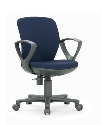 OA-1055EJチェアー 【 セミローバック 】 【 サークル肘 固定肘 】 【 布張り or ビニール張り 選べる張地カラー 全11色 】 【 樹脂脚 】 【 法人格限定 】 事務用回転椅子