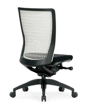 R-5605チェア メッシュチェア 【 ミドルバック 】 【 肘なし 】 【 樹脂脚 】 【 背樹脂メッシュ + 座面 防汚布張り 黒色 】 事務用回転椅子 オフィスチェア パソコンチェア OAチェア PCチェア デスク用チェア 高級チェア ビジネスチェア