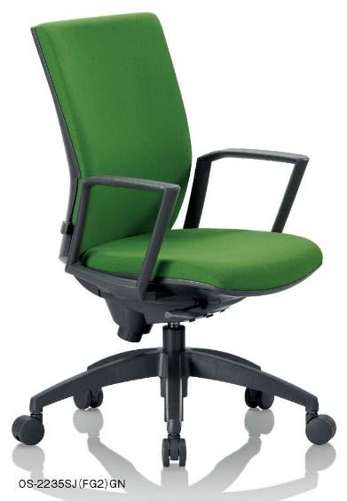 【 法人様限定 】 OS-2235SJチェア  【 ミドルバック 】 【 肘付き サークル肘 固定肘 】 【 ランバーサポート付き 】 【 布張り 選べる張り地カラー 全7色 】 【 選べるキャスター 】  事務用回転椅子 アイコチェア