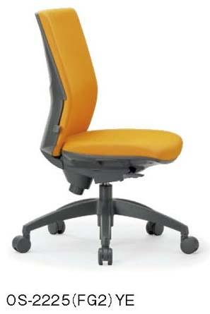 OS-2225チェア  【 ミドルバック 】 【 肘なし 】 【 ランバーサポート付き 】 【 樹脂脚 】 【 布張り 選べる張り地カラー 全10色 】 事務用回転椅子 ビジネスチェア オフィスチェア パソコンチェア OAチェア デスクチェア