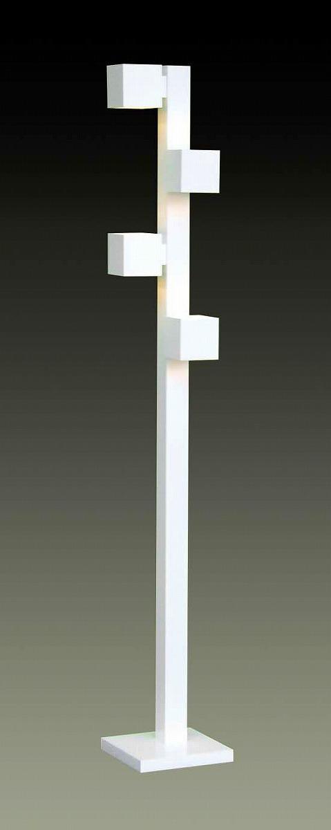 LED照明 フロアスタンド型 F3180LE-W  【 CUBE-LED キューブ 】 【 LED電球 E17 3.7W×4 電球色 】 【 MDF 白色 】 【 H1700×W□250 】 【 フットスイッチタイプ 】 【 省エネ 】  dcs デザイン照明