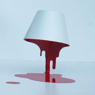 LED照明 テーブルスタンド S8063LE-WR 【 liquid lamp LED リキッドランプ 】 【 E17 LED電球 3.7W×1 電球色 】 【 鋼白・赤色 】 【 H315×W290×D205 】 【 中間スイッチ付 】 【 省エネ 】 デスクスタンド 卓上スタンドライト dcs デザイン照明