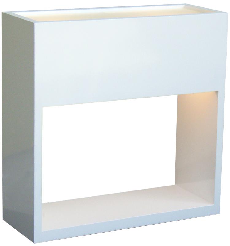 テーブルスタンド S8034A-W 【 PORTA-EF ポルタ 】 【 E17 電球型蛍光灯 EFA 10W型×2 (電球色) 】 【 MDF白色 】 【 H400×W400×D150 】 【 中間スイッチ付き 】 【 省エネ 】 デスクスタンド 卓上スタンドライト dcs デザイン照明