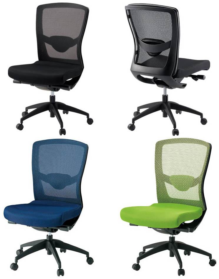 PLUS JOINTEX 事務イス FN-8M 1脚分 【 ハイバック 】 【 肘なし 】 【 ランバーサポート付き 】 【 背メッシュチェア 】 【 選べる張地カラー 全3色 布張り 】 【 お客様組立商品 / 有料で組立可能 ・ 完成品渡しも可能 】 事務用回転椅子