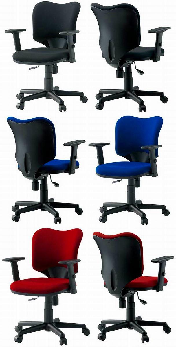 PLUS プロップチェア 1脚分 【 肘付き 可動肘 】 【 選べる張地カラー 全3色 背座同色 】 【 選べるキャスタータイプ 】 【 組立品 】 Prop 事務用回転椅子 オフィスチェア