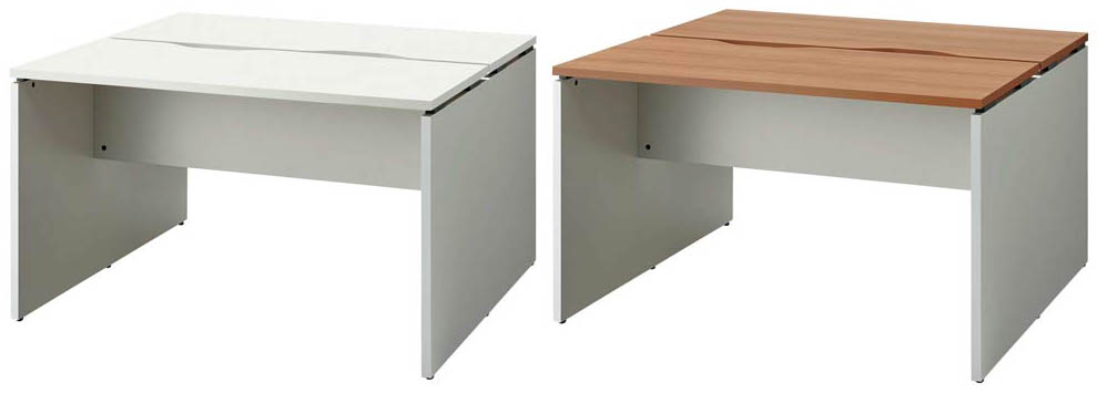 PLUS オフィステーブル BF2-1212-J 両面タイプ 1台 【 アジャスター付き 】 【 W1200×D1200×H720 】 【 選べる天板カラー 全2色 】 b-Foret ※ お客様組立商品 ※ 有料で組立可能 ※
