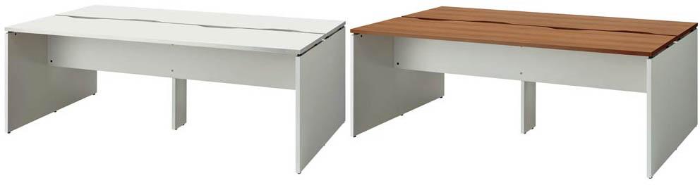 PLUS オフィステーブル BF2-2012-J 両面タイプ 1台 【 アジャスター付き 】 【 W2000×D1200×H720 】 【 選べる天板カラー 全2色 】 b-Foret ※ お客様組立商品 ※ 有料で組立可能 ※