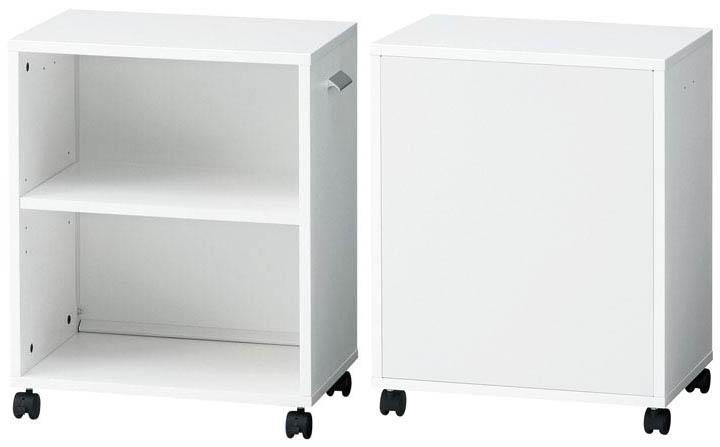 PLUS アンダータスクラック BF-UD 両面タイプ 1台 【 キャスター付き 】 【 W505×D340×H632 】 【 選べる天板カラー 全2色 】 b-Foret ※ お客様組立商品 ※ 有料で組立可能 ※