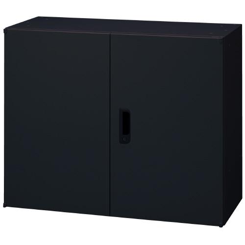 PLUS 壁面収納庫 Je両開き保管庫 1台分 JE-70A_BK 【 W900×D450×H720mm 】 【 鍵付き:2枚 】 【 ブラック色 】 【 上下・横連結可能 】 【 組立品 】 ※中下置タイプを下置で使用する場合、別売りオプションベース(JE-11)が必要