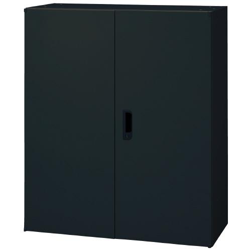PLUS 壁面収納庫 Je両開き保管庫 1台分 JE-105A_BK 【 W900×D450×H1050mm 】 【 鍵付き:2枚 】 【 ブラック色 】 【 上下・横連結可能 】 【 組立品 】 ※中下置タイプを下置で使用する場合、別売りオプションベース(JE-11)が必要