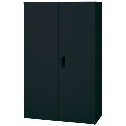PLUS 壁面収納庫 Je両開き保管庫 1台分 JE-140A_BK 【 W900×D450×H1425mm 】 【 鍵付き:2枚 】 【 ブラック色 】 【 上下・横連結可能 】 【 組立品 】 ※中下置タイプを下置で使用する場合、別売りオプションベース(JE-11)が必要