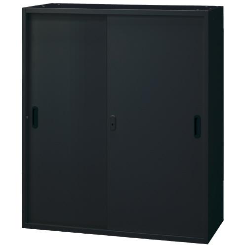 PLUS 壁面収納庫 Je引違い保管庫 1台分 JE-105S_BK 【 W900×D450×H1050mm 】 【 鍵付き:2枚 】 【 ブラック色 】 【 上下・横連結可能 】 【 組立品 】 ※中下置タイプを下置で使用する場合、別売りオプションベース(JE-11)が必要